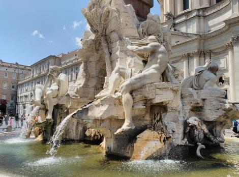 Impresionante fuente de Piazza Navona