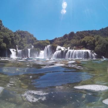Zona de baño en Krka