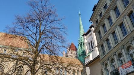 Ginebra - Suiza - Catedral Torre