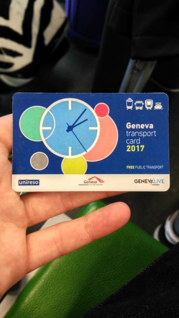 Tarjeta transporte - Ginebra