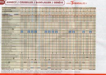 Transalis - Autobuses - Annecy - Ginebra