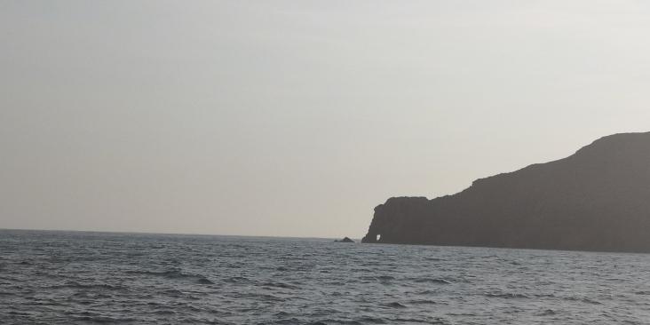 cabeza elefante desde el mar
